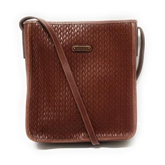 f1658b264 Esprit Bags | Vintage Leather Bag Woven Purse Handbag | Poshmark